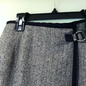 Talbot's Herringbone Wrap Pencil skirt
